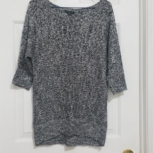 Dynamite Speckled Grey Batwing 3/4 Sleeve Sweater